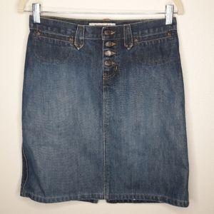 Abercrombie & Fitch Midi Jean Skirt Size 2